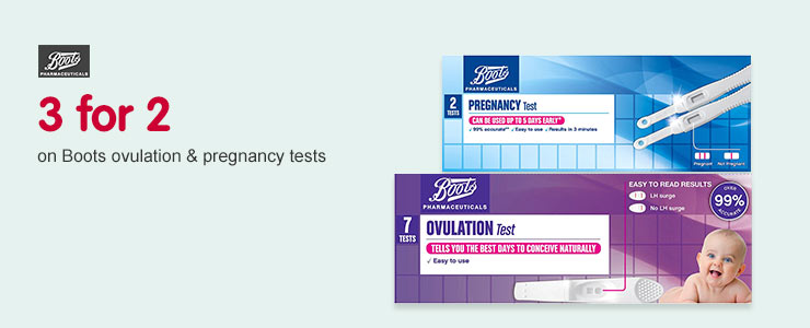 3 for 2 on Boots Ovulation & pregenacy tests