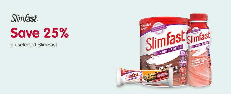 Save 25 percent On selected Slim-Fast