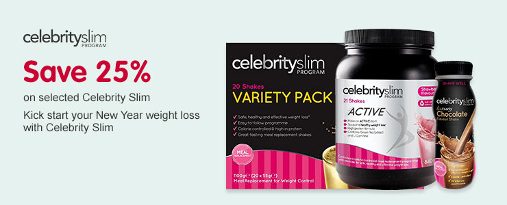 Save 25 percent On selected celebrity Slim