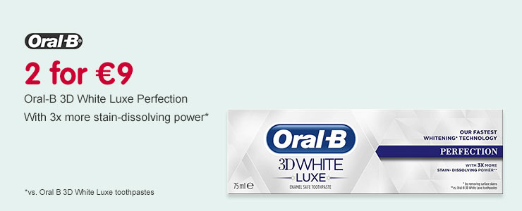 2 for €9 on Oral B Luxe