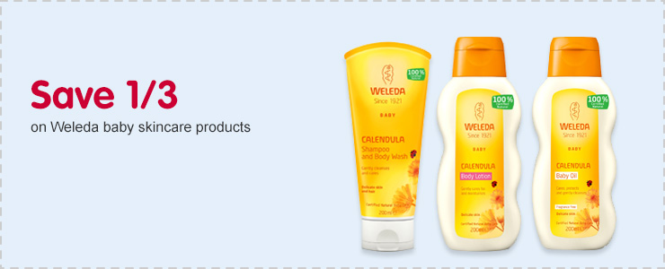 Save 1/3 on Weleda baby skincare products