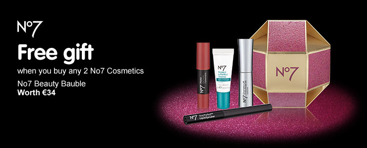 Free gift when you buy any 2 No7 cosmetic products