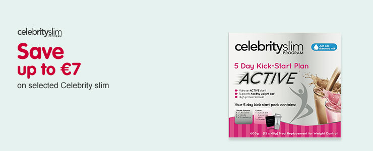 Save up to 7 Euros on selected Celebrity slim