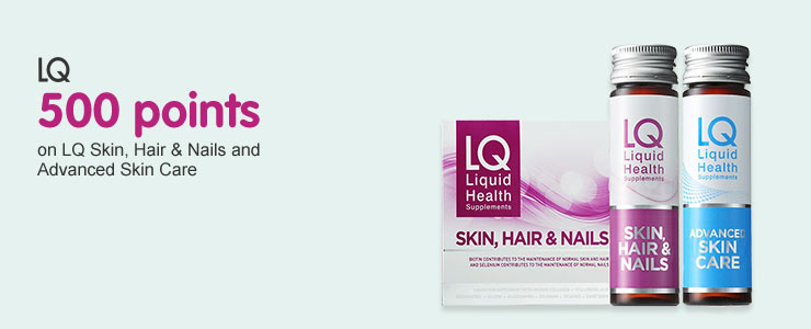 500 Points on LQ Skin, Hair & Nails and Advanced Skin Care