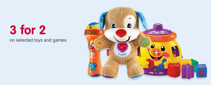 3 for 2 on selected Toys & Games