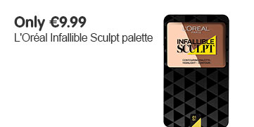 Only 9.99 Euros on L'Oreal Paris Infallible Sculpt Contouring Palettes