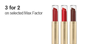 3 for 2 on selected Max Factor ROI