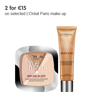 2 for on selected L'Oreal cosmetics