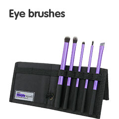 Eye shadow, liner and brow brushes