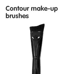 Contour make-up brushes
