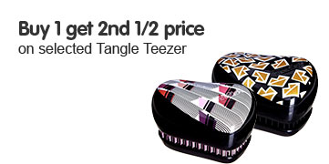 Buy one get second half price when you purchase selected Tangle Teezer