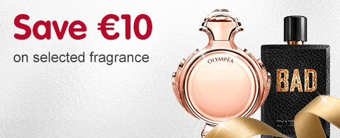 Save 10 euros on selected fragrance