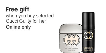 Free gift when you buy selected Gucci Guilty for her