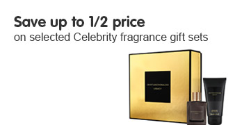 Save up to half price on selected celebrity fragrance gift sets