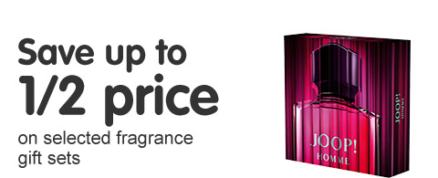Save up to half price on selected fragrance gift sets