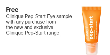 Free Clinique Pep-Start Eye Cream sample ROI