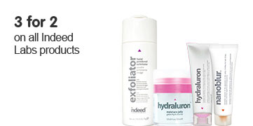 3 for 2 on selected Indeed skincare ROI