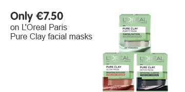 Only 7 Euros 50 on selected L'Oreal Paris Pure Clays