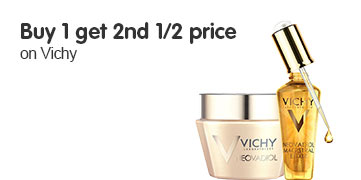 Buy 1 get 2nd half price on selected Vichy ROI