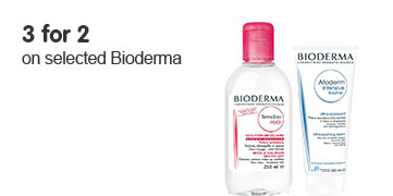 3 for 2 on selected Bioderma