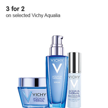 3 for 2 on selected Vichy Aqualia ROI