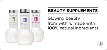 Beauty supplements. Glowing beauty from within, made with 100% natural ingredients