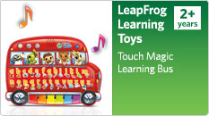 Leapfrog learning toys. Touch Magic Learning Bus.