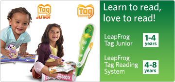 Learn to read, love to read! Leapfrog Tag Junior. Leapfrog Tag Reading System.
