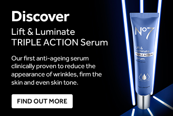Discover lift and luminate triple action serum. Our first anti-aging serum clinically proven to reduce wrinkles, firm the skin and even skin tone