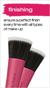 real techniques finishing make up brushes
