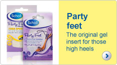 Scholl party feet the original gel insert for those high heels