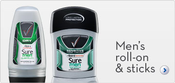 Sure Men Roll-On & Sticks