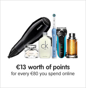 €10 worth of points when you spend for every €80 you spend online