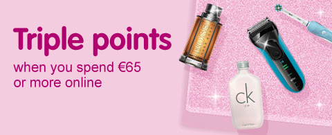 Triple Points when you spend €65 or more online
