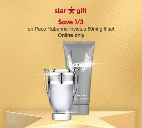 Invictus 50ml gift set only 38 euros