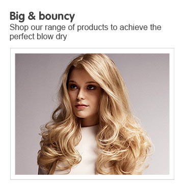 Big and Bouncy - shop our range of products to recieve the perfect blow dry