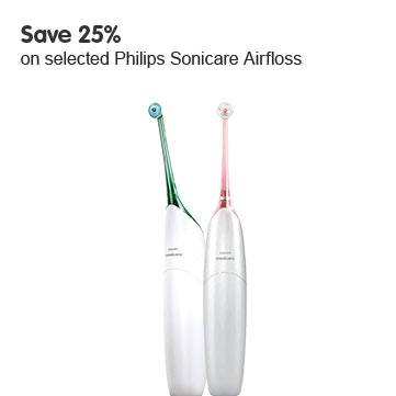 Save 25% on selected Philips Sonicare Airfloss