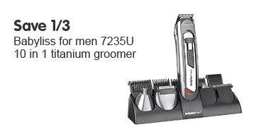 Save 1/3 BaByliss For Men 7235U 10-in-1 Titanium Groomer