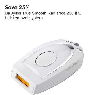 Save 25% BaByliss True Smooth Radiance 200 IPL hair removal system