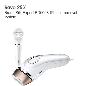 Save 25% Braun Silk Expert BD5008 IPL hair removal system