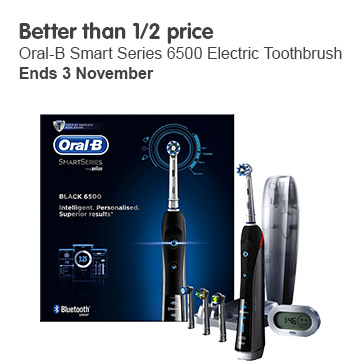 Better than 1/2 price Oral B 6500 electric toothbrush