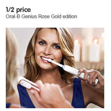 1/2 Price across the Oral-B Genius Rose Gold edition