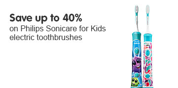 Save up to 40% Philips Sonicare for Kids electric toothrbrushes