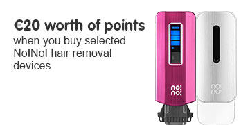 20 euros worth of points on selected No!No! female hair removal devices
