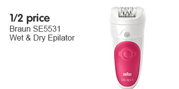 1/2 price SE5531 wet & dry epilator