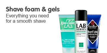 Discover our range of shaving gels and foams, everything you need for a smooth shave