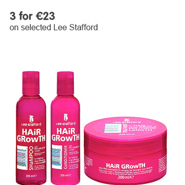 3 for 23 Euros on selected Lee Stafford
