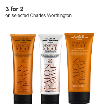 3 for 2 on selected Charles Worthington