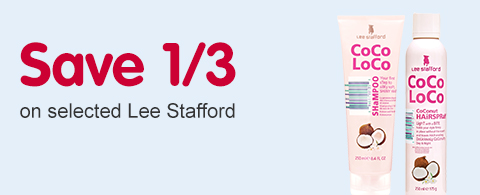 Save a 1/3 on selected Lee Stafford