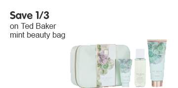 Save a third on the Ted Baker mint beauty bag